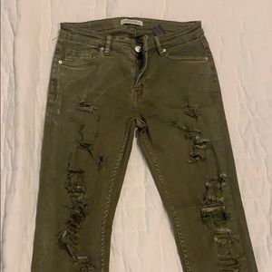 Olive geeen jeans